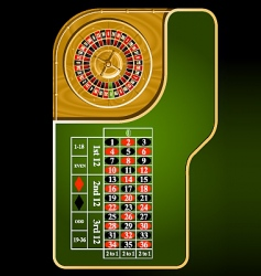 Roulette table layout vector