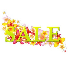 Sale Poster With Flowers vector