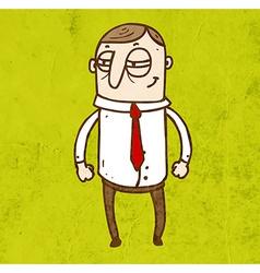 Scheming Man Cartoon vector image