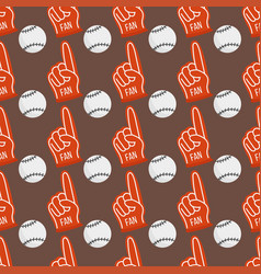 seamless baseball balls pattern background vector image