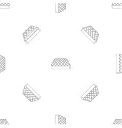 sleeping mattress pattern seamless vector image
