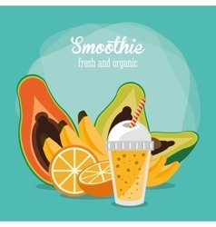 Smoothie drink glass design vector