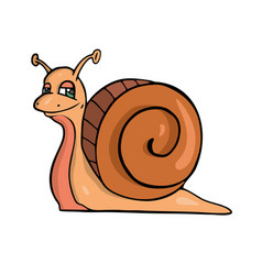 snail friendly cute insect cartoon vector image