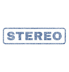 Stereo textile stamp vector