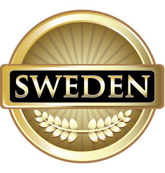 Sweden gold icon vector