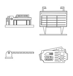 train and station symbol vector image