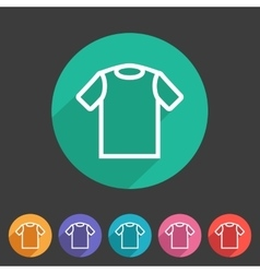 tshirt t-shirt tee icon flat web sign symbol logo vector image