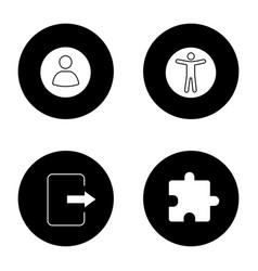 uiux glyph icons set vector image