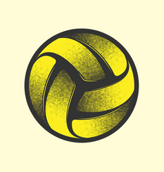 volleyball yellow symbol vector image