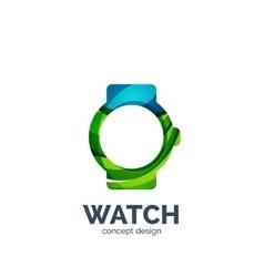 watch logo vector image