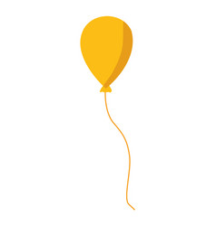 yellow balloon icon vector image