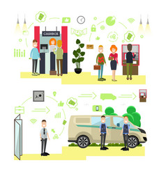 Banking concept in flat style vector