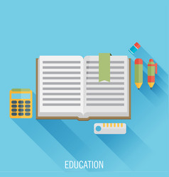 education flat design concept for web and mobile vector image vector image
