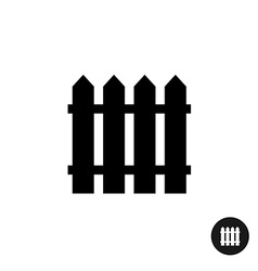 Fence icon Simple black silhouette one piece style vector image