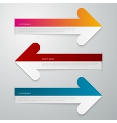 Three arrows infographics vector