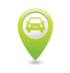 car icon green map pointer vector image vector image