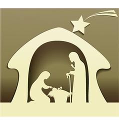 Christmas nativity scene vector image vector image