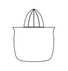 Juicer squeezer black color path icon vector