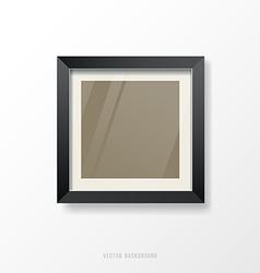 Modern black frame vector image vector image
