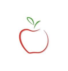 red apple logo isolated vector image