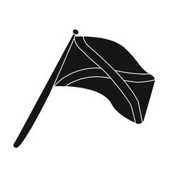 scotland flag on a wooden stickthe scottish vector image