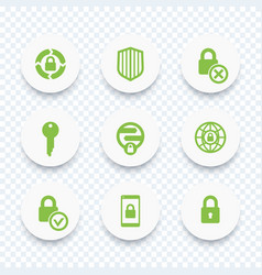 security icons secure transaction lock shield vector image vector image