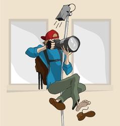 Cartoon Photographer vector image vector image