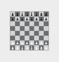 chess board vector image vector image