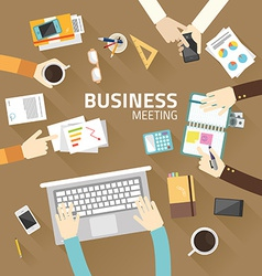 Concept business of teamwork analyzing project on vector image
