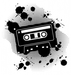 grunge cassette vector image vector image