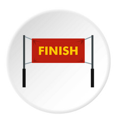 finish line icon circle vector image vector image