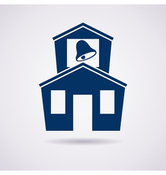 icon of school vector image