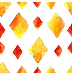 Watercolor rhombus seamless pattern vector image