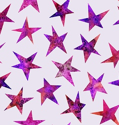 Watercolor seamless pattern with stars isolated on vector image vector image