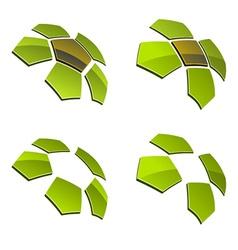 3d shiny elements vector