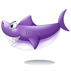 A big smiling shark vector image
