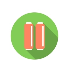 A couple of batteries flat icon vector image