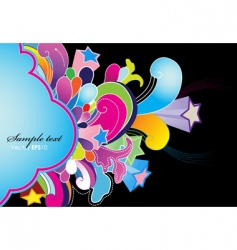 abstract background with colored flowers vector image