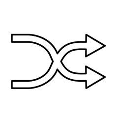 Arrows change symbol isolated icon vector
