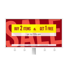banner with text design buy two items and get one vector image