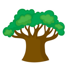 Big green tree on white background vector