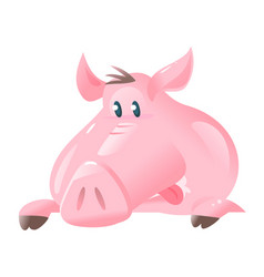 big pig face cartoon vector image