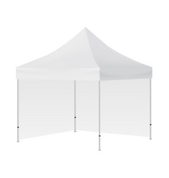 blank square tent with two walls mockup isolated vector image