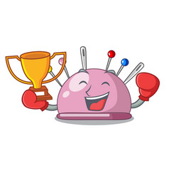 Boxing winner pincushion a cartoon pins for sewing vector