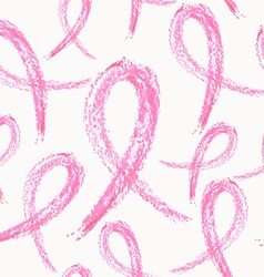 Breast cancer ribbon seamless pattern vector