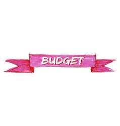 Budget ribbon vector