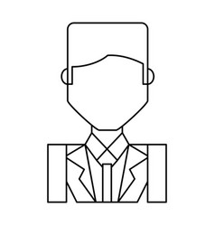 businessman profile cartoon vector image