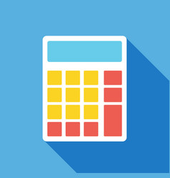 calculator icon business concept vector image