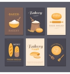 cards shop bakery vector image