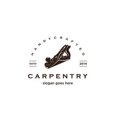 carpentry vintage logo vector image